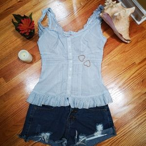 Guess, blue top